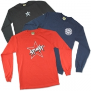 Long Sleeve: Mens 100% Cotton