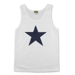 Sexwax Plain Star: Men's Tanktop White Small