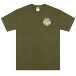 Sexwax Pinstripe: Men's Short Sleeve Military Green Small