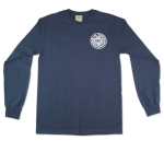 Sexwax Pinstripe: Men's Long Sleeve Navy Small