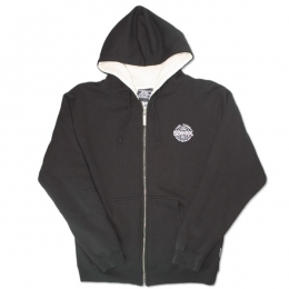 Sexwax Pinstripe: Men's Sherpa Zip Sweat. Pocket Logo Only