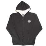 Sexwax PCKT Pinstripe: Men's Sherpa Zip Sweat BlackSmall