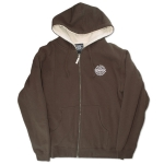 Sexwax PCKT Pinstripe: Men's Sherpa Zip Sweat Cocoa Small