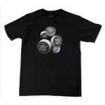 3-D Bars: Men's Fine Jersey Tee Black Small