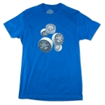 3-D Bars: Men's Fine Jersey Tee Royal Blue Small
