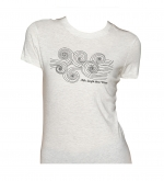 Brasil Waves: Women's Fine Jersey Tee Oatmeal Small