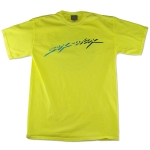 Neon Script: Men's Short Sleeve Pigment Dyed T-Shirt: Neon Yellow - Small